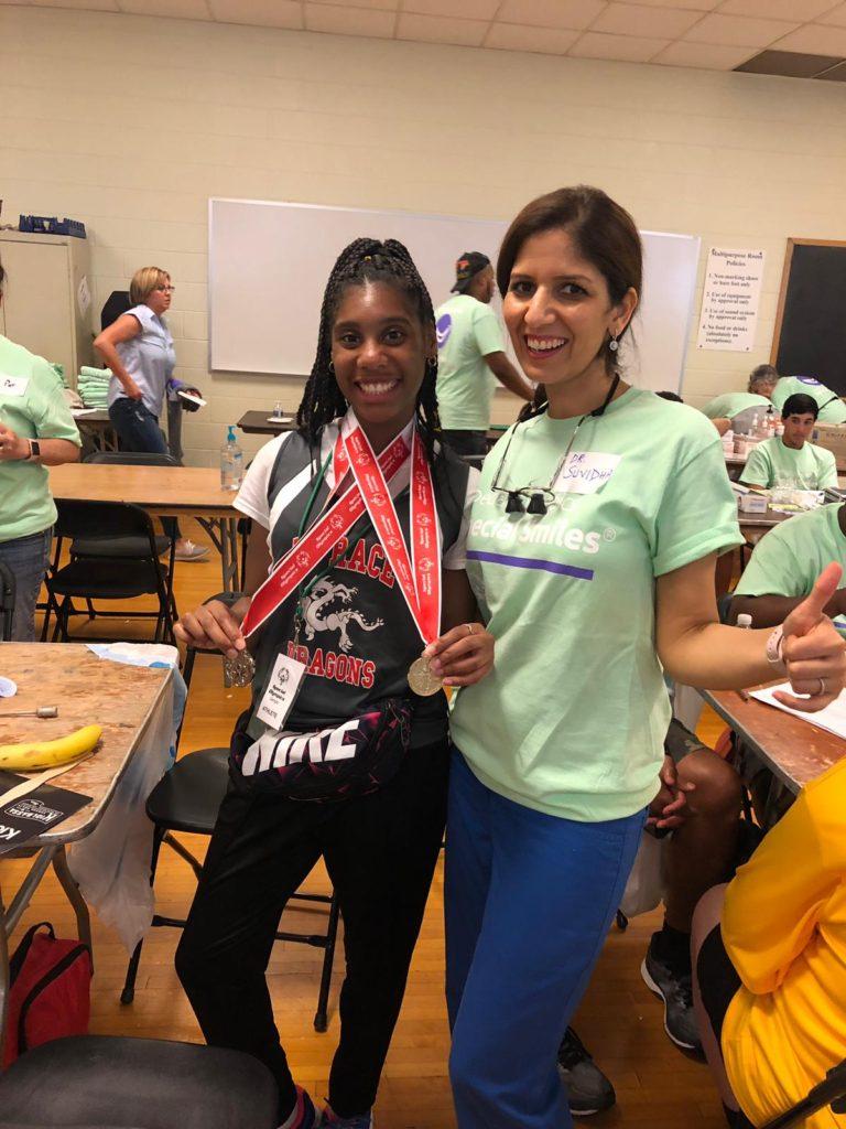 Dentist Suvidha Sachdeva volunteering at special olympics